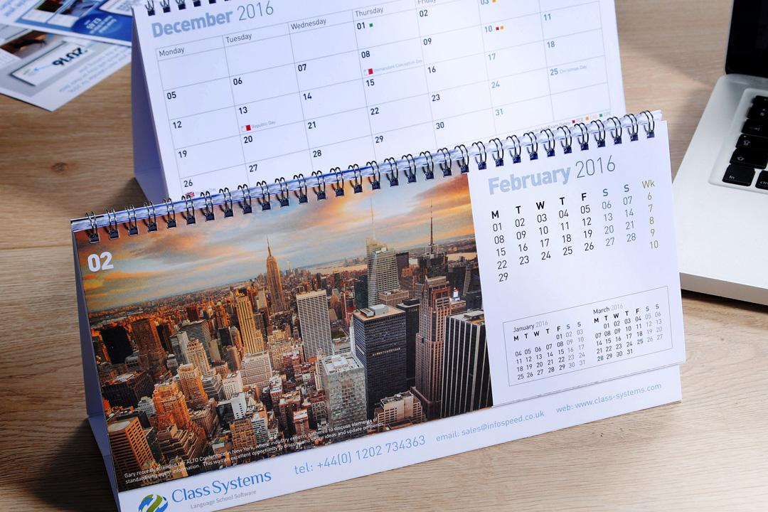 bespoke desk calendars poole bournemouth christchurch from creativebyte