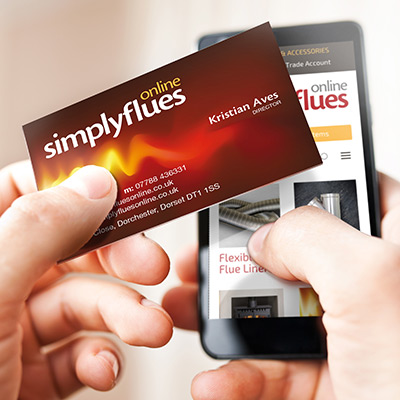 business card and smartphone enabled website