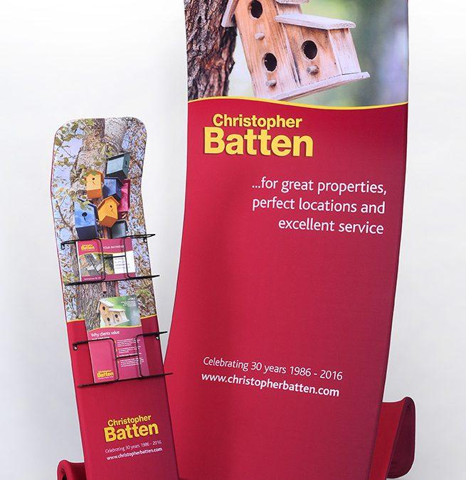 Christopher Batten Property Agents Fabric Bannerstands