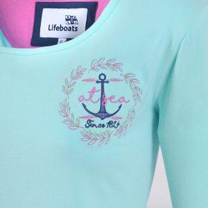 womens-turquoise-threequarter-sleeve_close