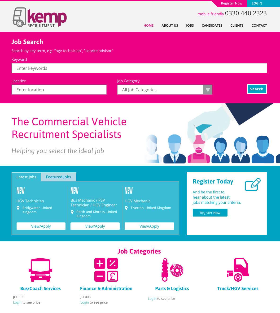 Web design services for recruitment agencies
