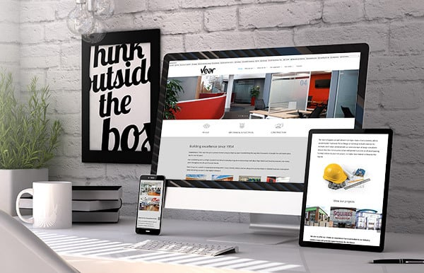 Responsive website for Vear Group