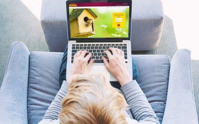 Christopher Batten estate agents website with new branding