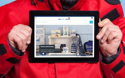 Product photography for the new RNLI (lifeboats) shop website